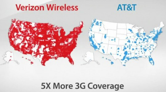 Verizon's 3G map