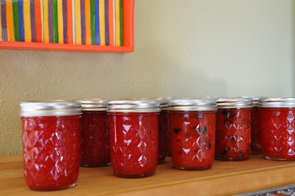 Three kinds of freezer jam
