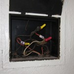 An old junction box with old and older wiring. Scary.