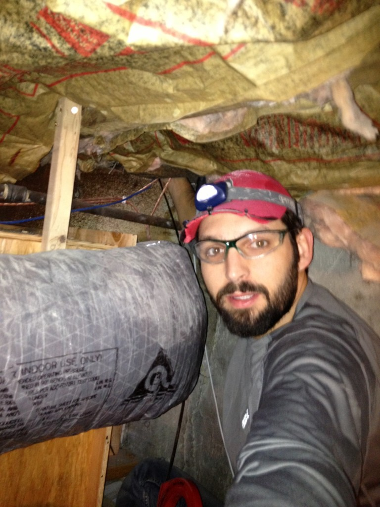 Andy in the crawl space