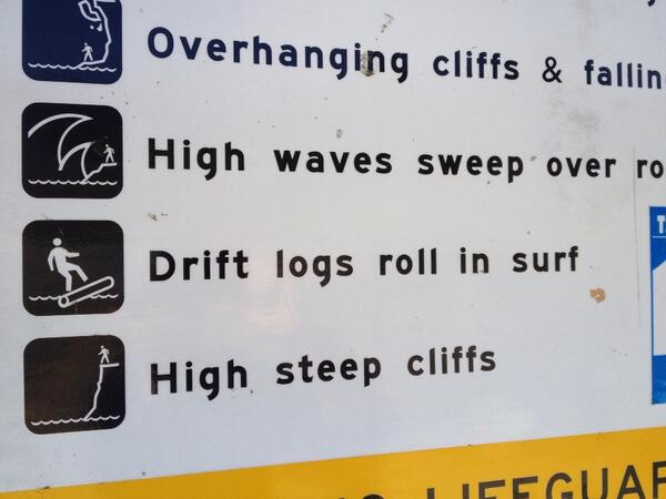 Tweet: New challenge. Riding drift logs in the surf. http…
