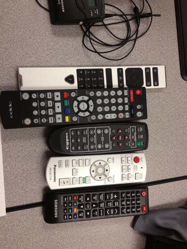 Tweet: Use the remote. Which remote? #edtech http://t.co/…