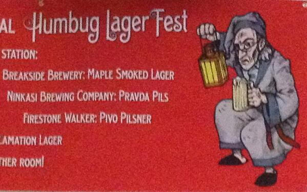 Tweet: The maple smoked lager is wunderbar! http://t.co/g…