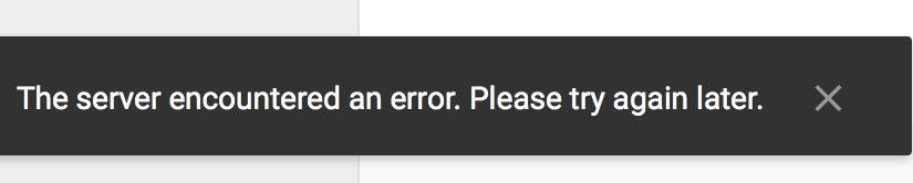 Tweet: Seeing a whole lot of these errors in Google Drive…