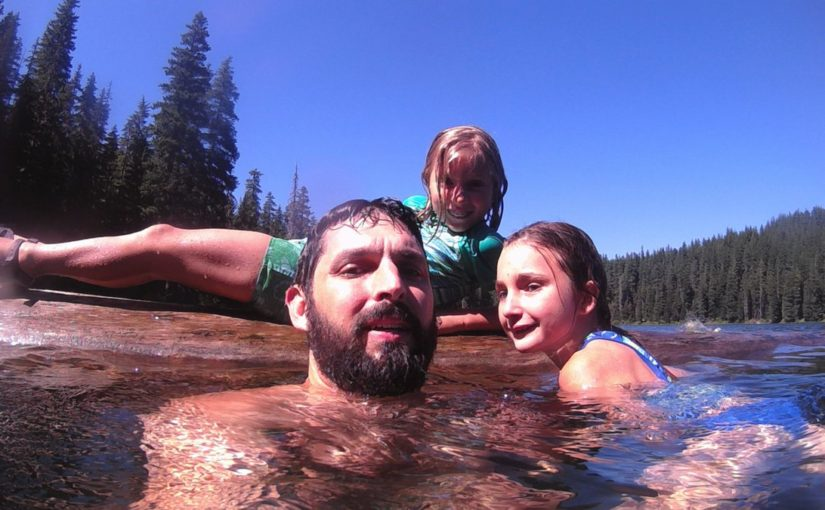 Tweet: Summer lake swimming in the Olallie Lake Scenic Ar…