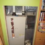 Furnace through access door