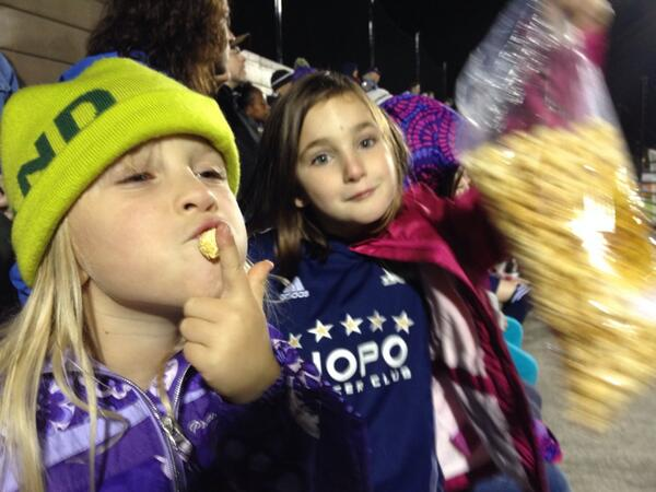 Tweet: Girls attended the NoPo soccer club night at the #…