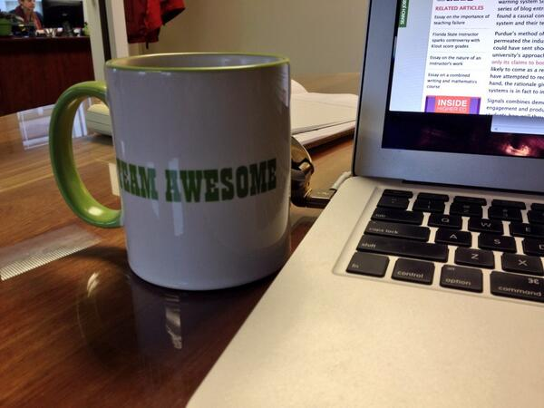 """Tweet: My wife uses """"Awesome"""" for her workgroup name too…."""