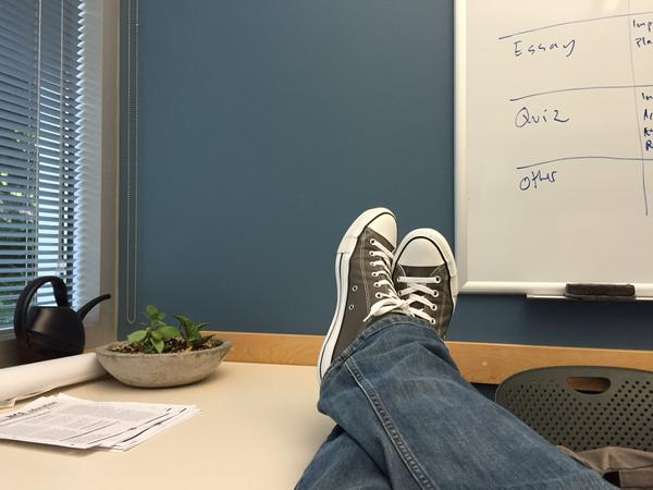 Tweet: Just another Friday afternoon. @triciabrand @weike…