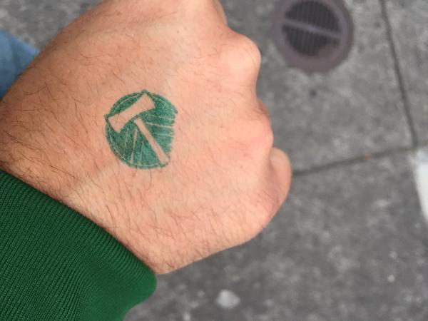 Tweet: Merlo is weird. Got a stamp. Walked through the So…