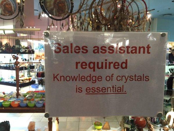 "Tweet: ""Knowledge of crystals is essential."" https://t.co…"