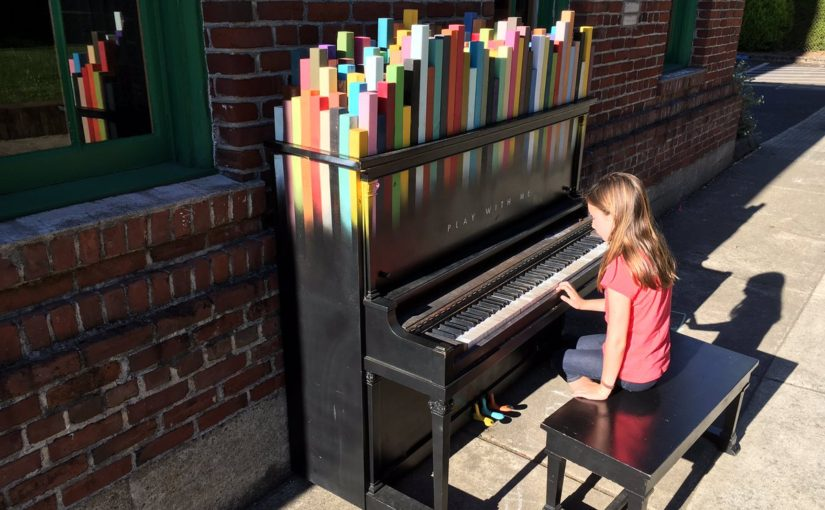 Tweet: Played the piano outside the Firehouse theater for…